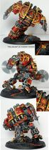 Miniatura cuchilla infernal, dreadnought de Khorne