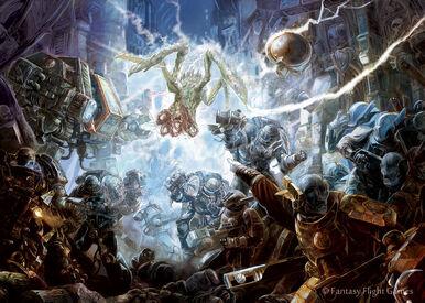 Guardianes de la Muerte Dreadnought Szobzak Forja de Obsidiana Tau Ghanathaar Wikihammer