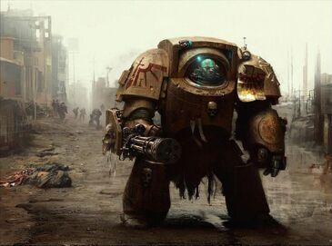 Exterminador Cañón Asalto Ángeles Oscuros Marines Espaciales Warhammer 40k Wikihammer