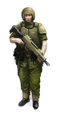 GI soldado del 150 reg de cadia