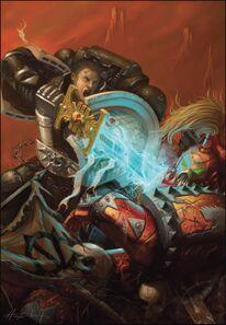 Guardianes de la Muerte Espada de Energia Marines Espaciales del Caos Ordo Xenos Wikihammer
