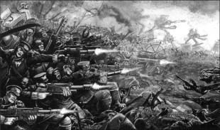 Guardia imperial mordia batalla contra caos.jpg