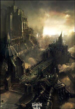 Ciudad Imperial Imperio Warhammer 40k Colmena Dawn of War 2.jpg