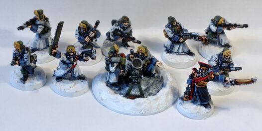 Valhallan troops
