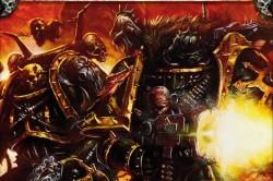 Caos marines de la legion negra combate.jpg