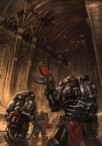 Guardianes de la Muerte Cripta Omega Bolter Pesado Garras Relampago Ordo Xenos Wikihammer