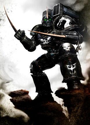 Marine dragon negro