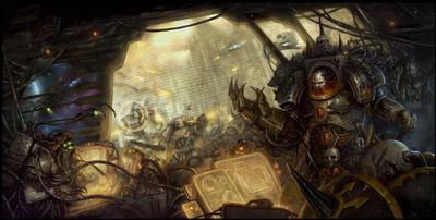 Horus en el puente de mando Wikihammer 40k.png