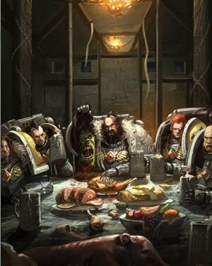 Lobos Espaciales 40k Space Wolves Banquete Comer.jpg