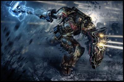 Guardia del Lobo Lobos Espaciales Servoarmadura Martillo Trueno Escudo Tormenta Warhammer.jpg