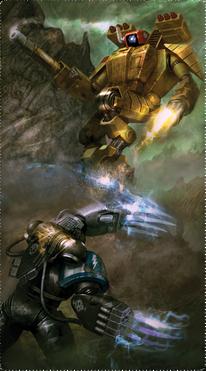 Guardianes de la Muerte Vigilantes de la Tormenta Garras Relampago Armadura de Combate Tau Ordo Xenos Wikihammer