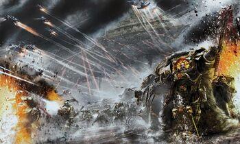 Hijos de Horus Lupercal Espíritu Vengativo Desembarco Batalla de Molech Wikihammer 40k.jpg