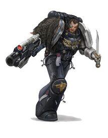 Guardianes de la Muerte Marine Tactico Lobos Espaciales Bolter Ordo Xenos Wikihammer