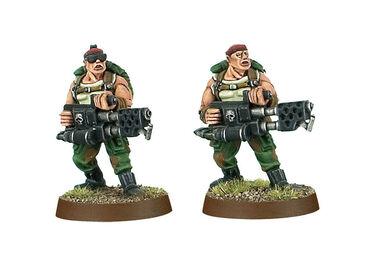 Soldados de Catachan lanzallamas pesados