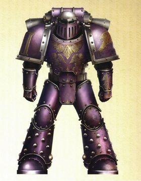 Hijos del Emperador Servoarmadura Mark III Hierro Esquema Preherejia Gran Cruzada Wikihammer.jpg