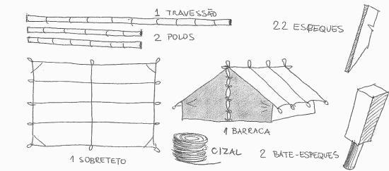 Material para a barraca