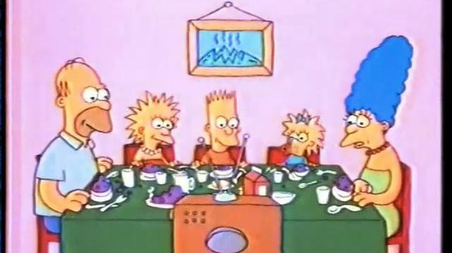 7 Simpsons Shorts-MG07 Eating Dinner (FROM ORIGINAL AIRING ON FOX)