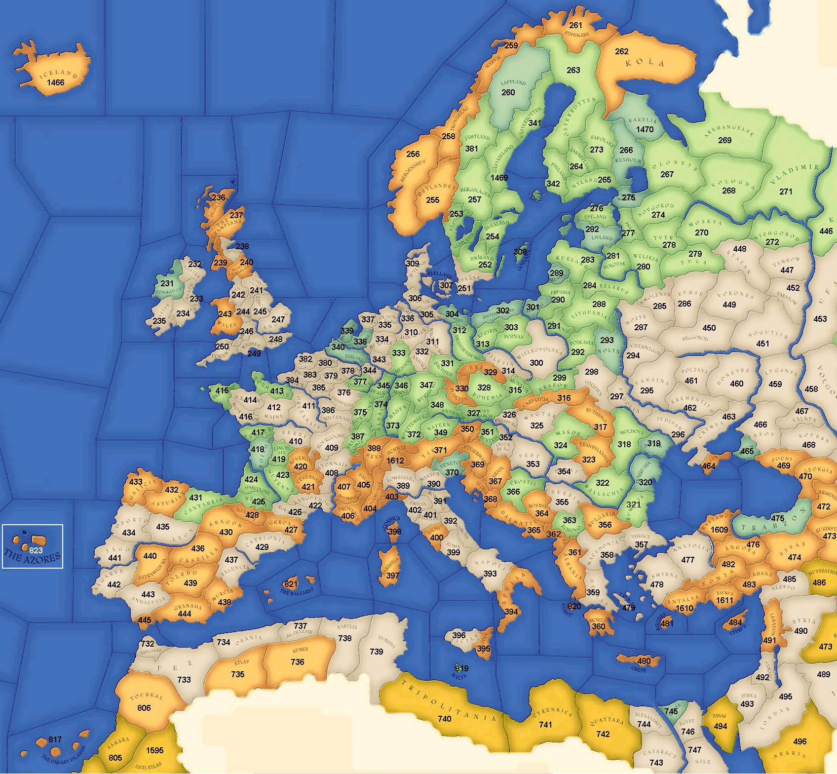 Maps Europa Universalis II EU Wiki FANDOM Powered By Wikia - Europa map