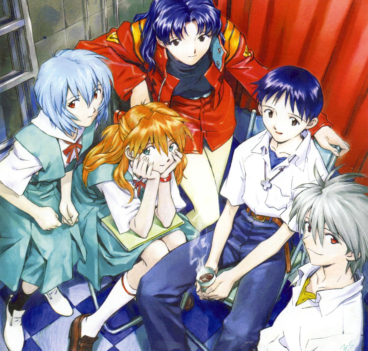 Neon Genesis Evangelion Shinji And Misato