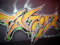 Graffiti fire