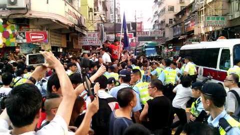 4分29秒 8月4日撐林老師 警察執勤時公然講粗口
