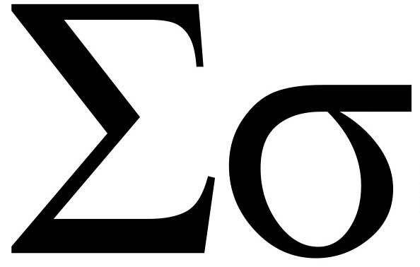 σ (GREEK SMALL LETTER SIGMA) UTF-8 character | UTF-8 Icons