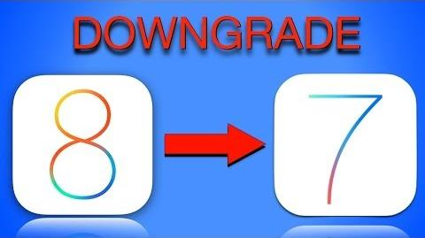 HOW TO Downgrade from iOS 8 to iOS 7 Go back to iOS 7.1
