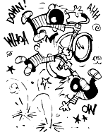Calvin and bike
