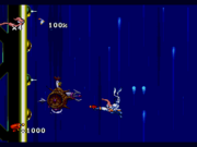EarthwormJim MegaDrive level5chickenfall