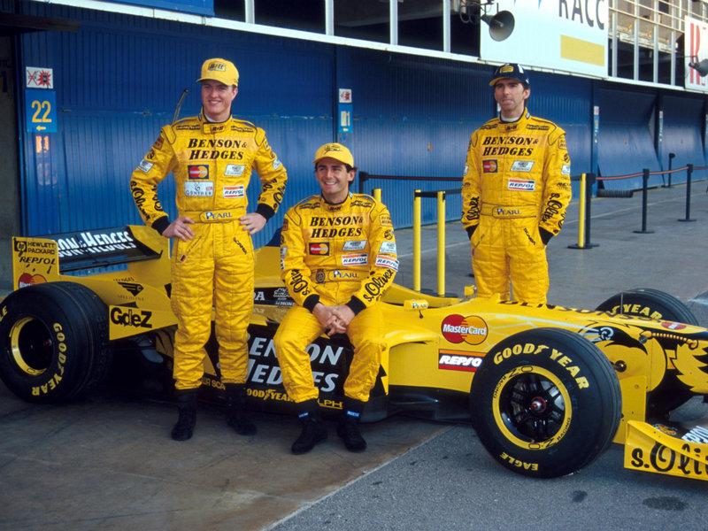 Image 1998 Jordan Test Driver Pedro De La Rosa With