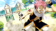 Natsu goes towards Everlue Mansion
