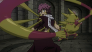 Franmalth attempts to take Natsu's soul