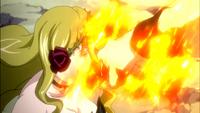 Natsu about to hit Imitatia