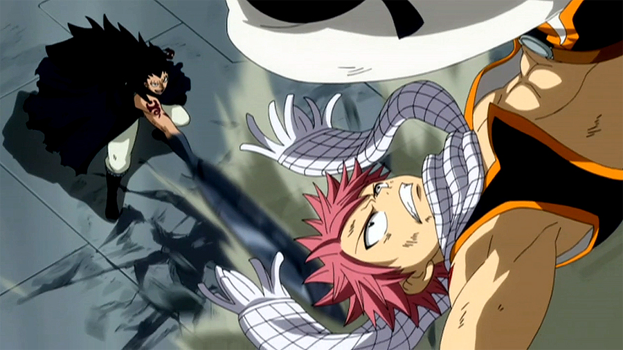 Image - Gajeel and Natsu team up.jpg | Fairy Tail Wiki | FANDOM ...
