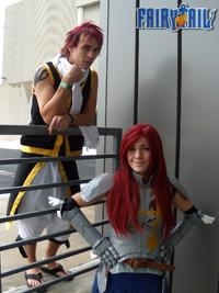 Erza and Natsu Cosplay