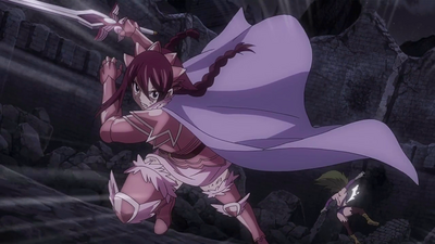 Erza cuts through Kyôka