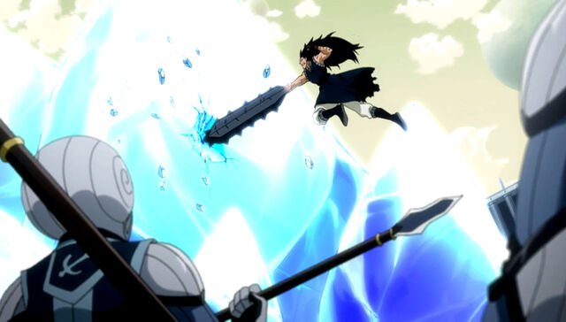File:Gajeel attacks the lacrima.jpg