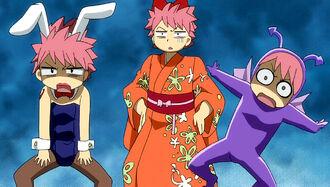 Natsu's transformation box outfits