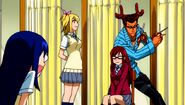 Fairy Academy - Cancer called to style Erza's hair