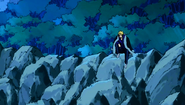Laxus sitting on a hill