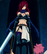 Erza takes Gray and Natsu do Faust