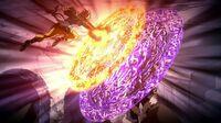Natsu and Zero clash