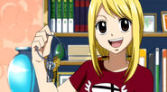 Lucy with her keys