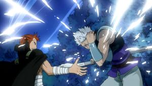 Byro crushing Gildarts' Magic