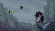 Gajeel defeats Eclipse Gemini
