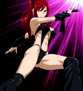 Erza as a dominantrix