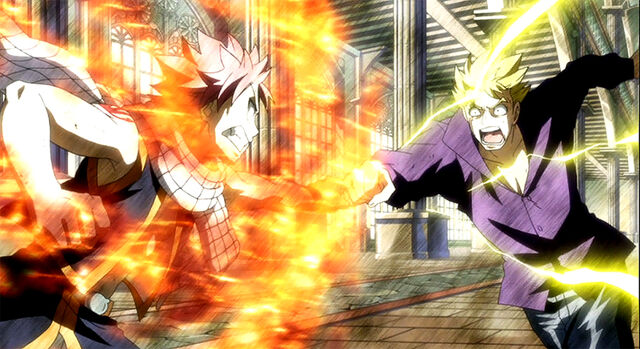 File:Natsu and Laxus clash.jpg