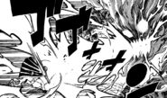 Laxus Attacks Atlas Flame