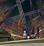 Team Erza inside the library