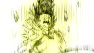 Gajeel electrocuted by Laxus